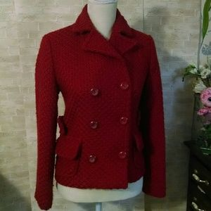 Gap Women's deep red blazer buttons jacket lined